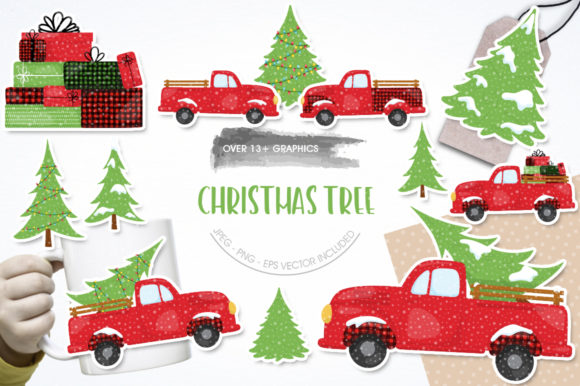 Christmas Tree Graphic By Prettygrafik