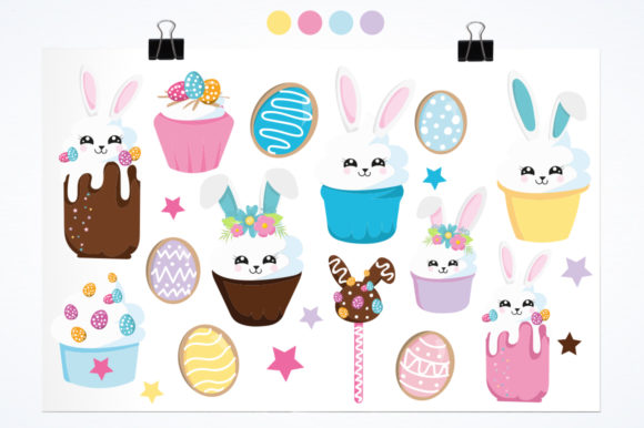 Download Free Adorable Easter Bunny Graphic By Prettygrafik Creative Fabrica for Cricut Explore, Silhouette and other cutting machines.