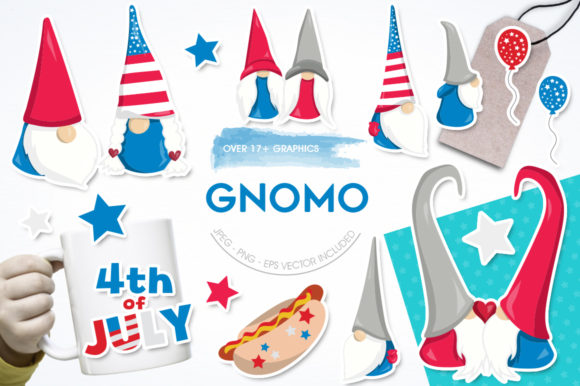 Print on Demand: Gnome Graphic Illustrations By Prettygrafik - Image 1