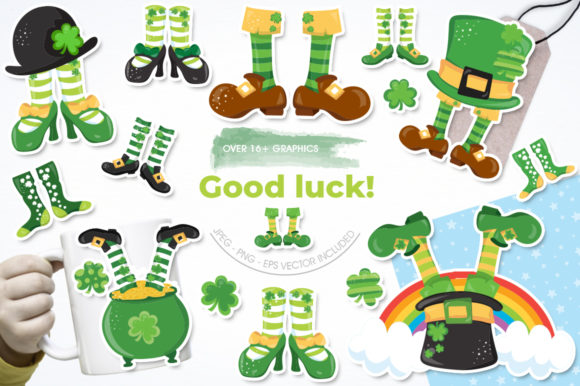 Download Free Good Luck Graphic By Prettygrafik Creative Fabrica for Cricut Explore, Silhouette and other cutting machines.
