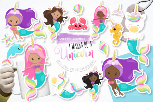 Print on Demand: I Wanna Be a Unicorn Grafik Illustrationen von Prettygrafik