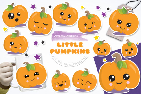 Download Free Little Pumpkin Graphic By Prettygrafik Creative Fabrica for Cricut Explore, Silhouette and other cutting machines.