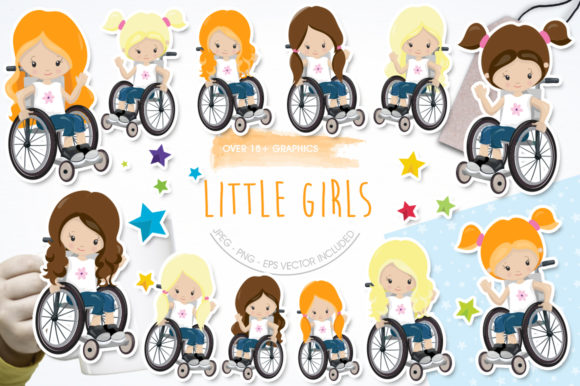 Print on Demand: Little Girls Graphic Illustrations By Prettygrafik