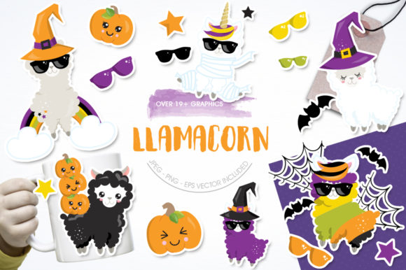 Print on Demand: Llamacorn Graphic Illustrations By Prettygrafik - Image 1