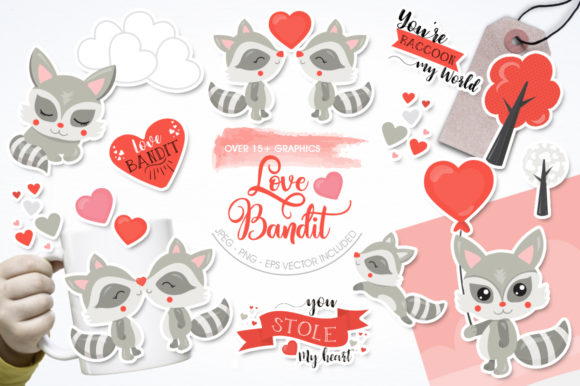 Print on Demand: Love Bandit Graphic Illustrations By Prettygrafik