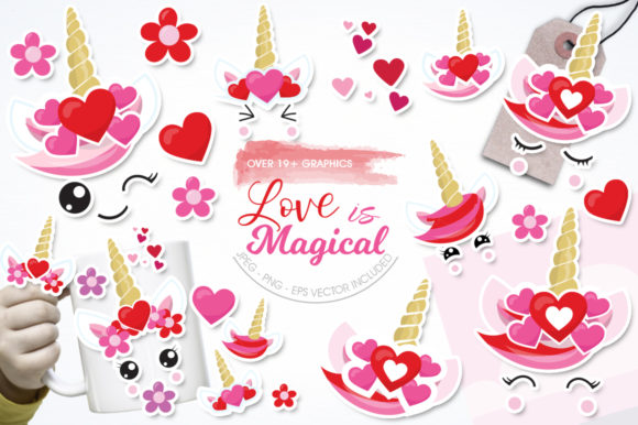 Print on Demand: Love is Magical Graphic Illustrations By Prettygrafik