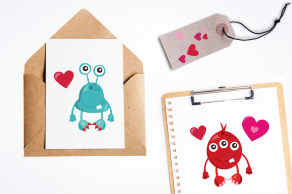 Print on Demand: Love Monster Graphic Illustrations By Prettygrafik - Image 4