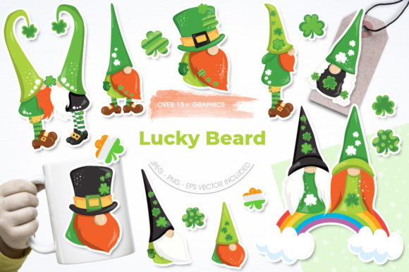 Print on Demand: Lucky Beard Graphic Illustrations By Prettygrafik