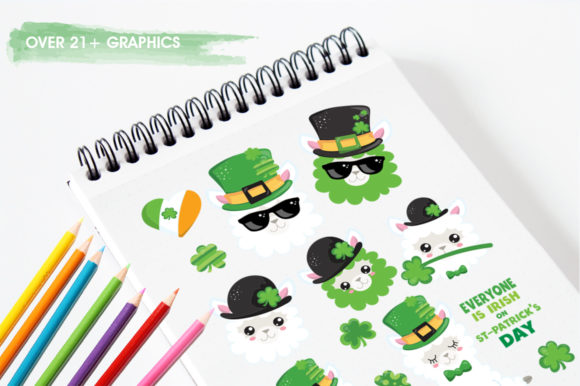 Print on Demand: Lucky Llama Graphic Illustrations By Prettygrafik - Image 3