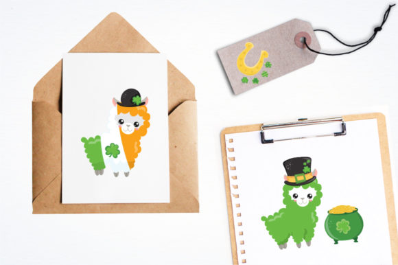 Download Free Lucky Llama Graphic By Prettygrafik Creative Fabrica for Cricut Explore, Silhouette and other cutting machines.