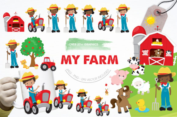 Print on Demand: My Farm Graphic Illustrations By Prettygrafik - Image 1