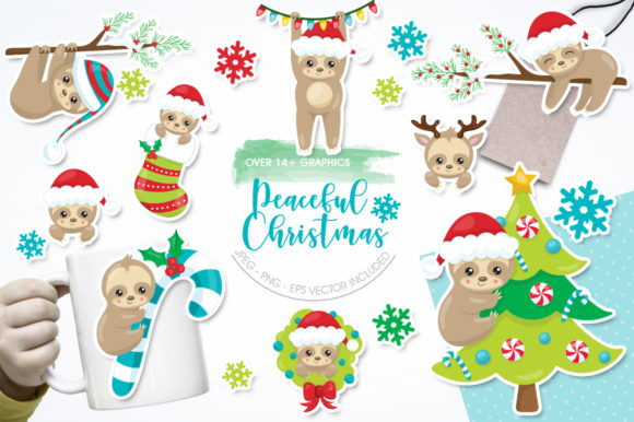 Download Free Peaceful Christmas Graphic By Prettygrafik Creative Fabrica for Cricut Explore, Silhouette and other cutting machines.