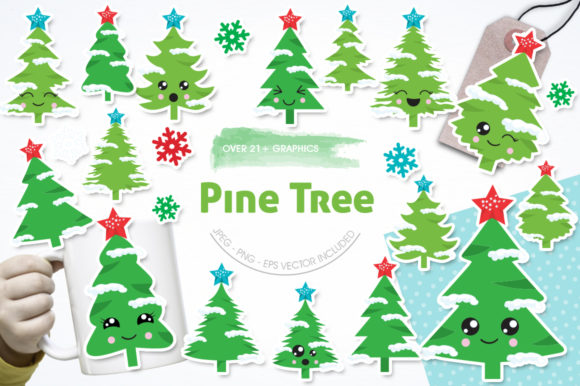 Print on Demand: Pine Tree Graphic Illustrations By Prettygrafik - Image 1