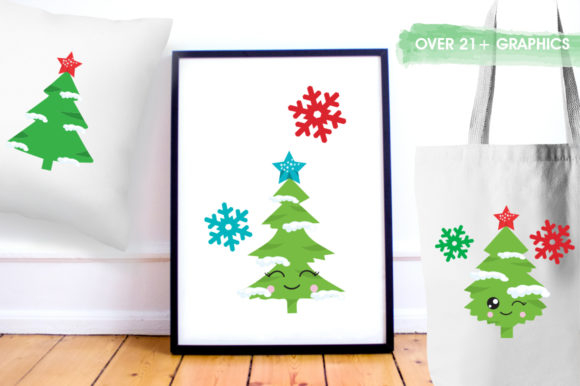 Print on Demand: Pine Tree Graphic Illustrations By Prettygrafik - Image 5