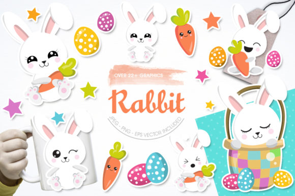Print on Demand: Rabbit Graphic Illustrations By Prettygrafik