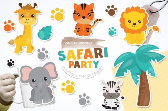 Print on Demand: Safafri Party Graphic Illustrations By Prettygrafik
