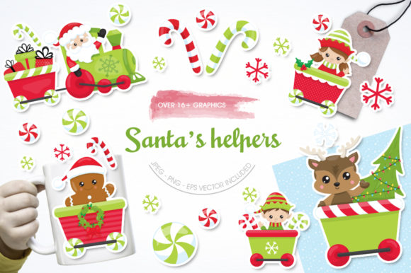 Print on Demand: Santa's Helper Graphic Illustrations By Prettygrafik - Image 1