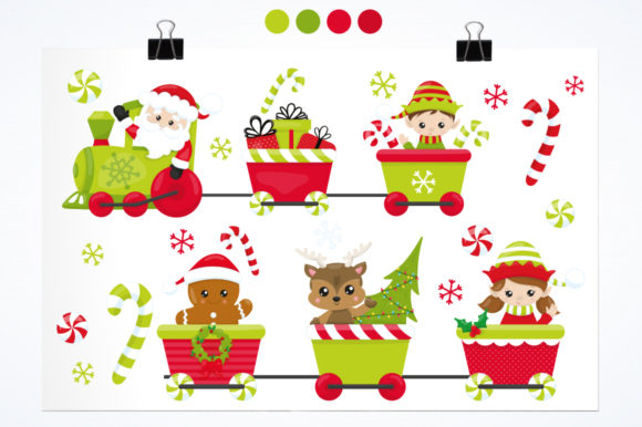 Print on Demand: Santa's Helper Graphic Illustrations By Prettygrafik - Image 2