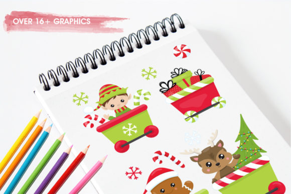 Print on Demand: Santa's Helper Graphic Illustrations By Prettygrafik - Image 3