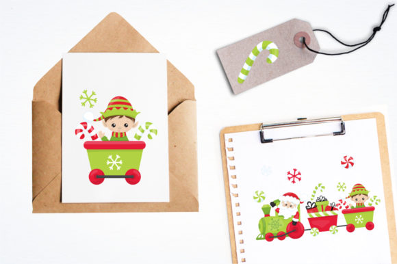 Print on Demand: Santa's Helper Graphic Illustrations By Prettygrafik - Image 4