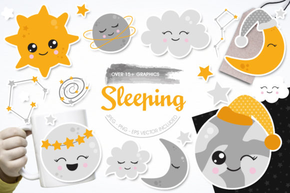 Print on Demand: Sleeping Graphic Illustrations By Prettygrafik