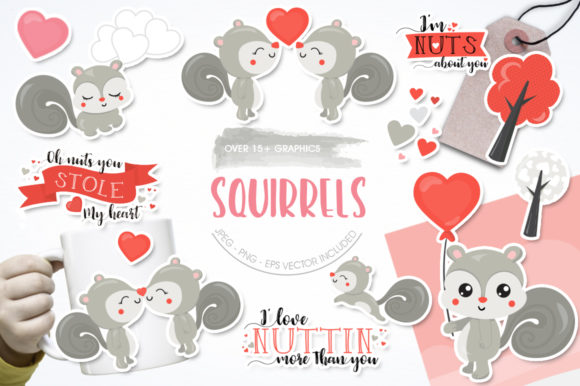 Print on Demand: Squirrels Graphic Illustrations By Prettygrafik - Image 1