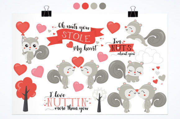Print on Demand: Squirrels Graphic Illustrations By Prettygrafik - Image 2