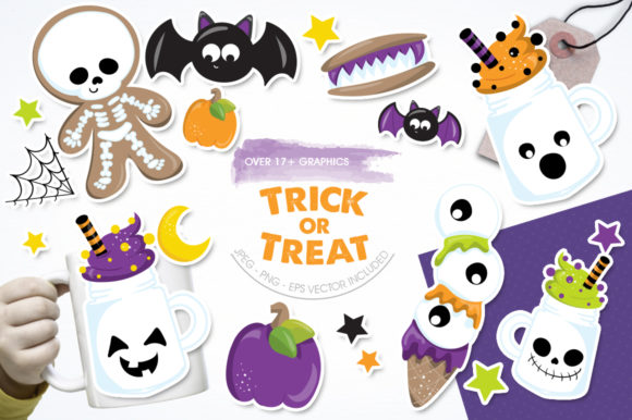 Print on Demand: Trick or Treat Graphic Illustrations By Prettygrafik - Image 1