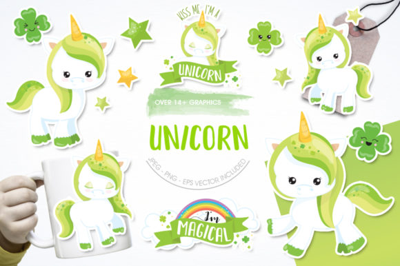 Print on Demand: St-Patrick's Unicorn Graphic Illustrations By Prettygrafik