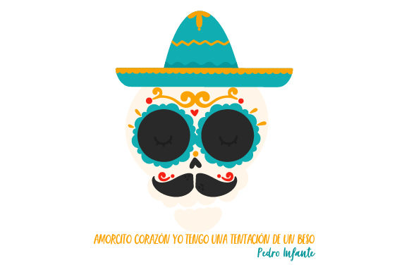 Download Free Pedro Infante Skull Svg Cut File By Creative Fabrica Crafts for Cricut Explore, Silhouette and other cutting machines.