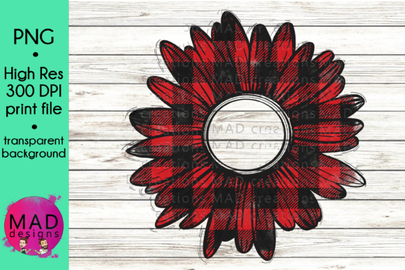 Buffalo Plaid Rustic Sunflower Graphic Crafts By maddesigns718 - Image 1