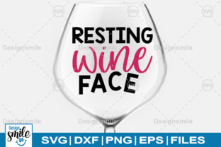 Print on Demand: Resting Wine Face Graphic Crafts By Designdealy