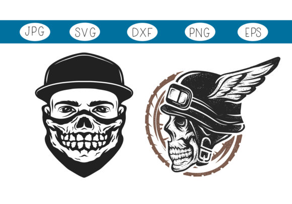 Download Free Rider Skulls Halloween Graphic By Capeairforce Creative Fabrica for Cricut Explore, Silhouette and other cutting machines.