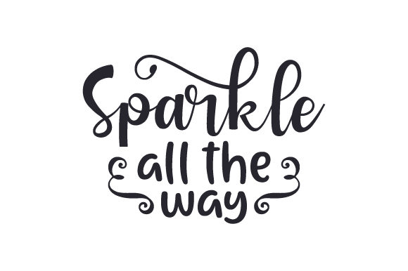Download Free Sparkle All The Way Svg Cut File By Creative Fabrica Crafts for Cricut Explore, Silhouette and other cutting machines.