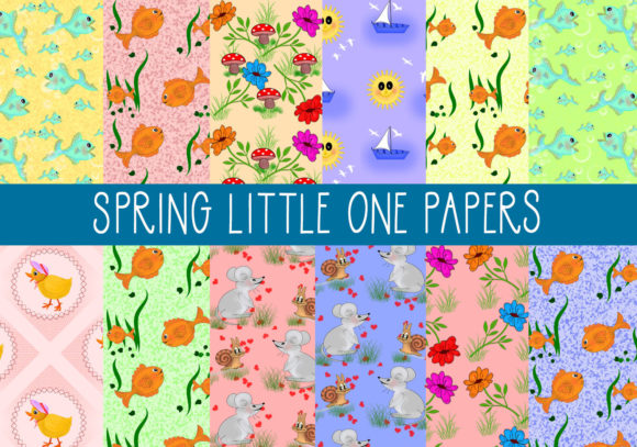 Print on Demand: Spring Little One Papers Graphic Patterns By CapeAirForce