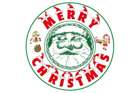Download Free Merry Christmas Greeting Card Element Creative Fabrica for Cricut Explore, Silhouette and other cutting machines.