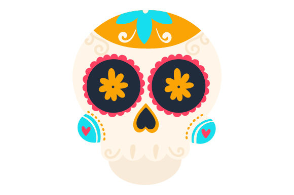 Download Free Sugar Skull Svg Cut File By Creative Fabrica Crafts Creative for Cricut Explore, Silhouette and other cutting machines.