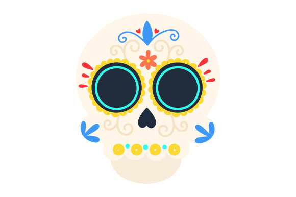 Sugar Skull Mexico Craft Cut File By Creative Fabrica Crafts