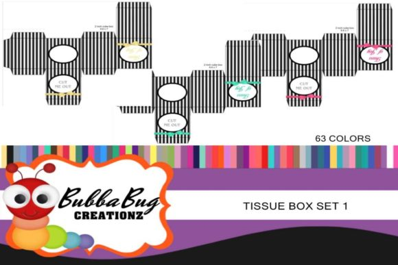 Tissue Boxes Set 1 Graphic Crafts By BUBBABUG - Image 1