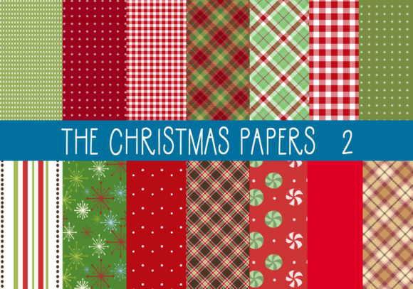 Download Free The Christmas Papers Set 2 Graphic By Capeairforce Creative for Cricut Explore, Silhouette and other cutting machines.