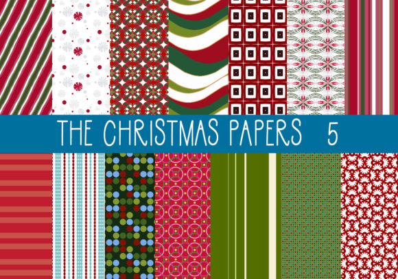 Print on Demand: The Christmas Papers   Set 5 Graphic Patterns By CapeAirForce