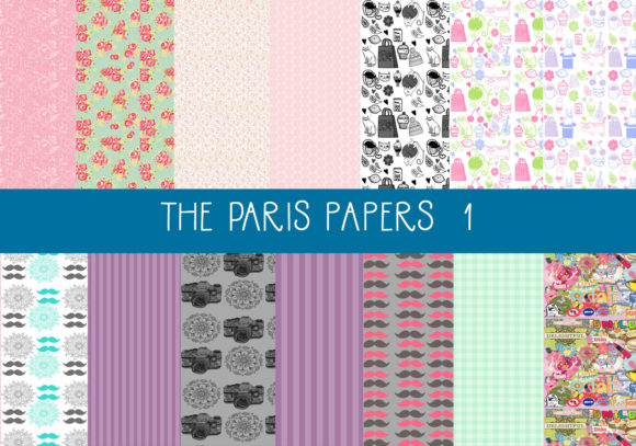 Print on Demand: The Paris PaperS    Set 1 Graphic Patterns By CapeAirForce