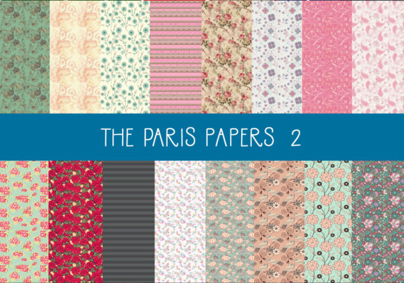 Print on Demand: The Paris Papers    Set 2 Graphic Patterns By CapeAirForce