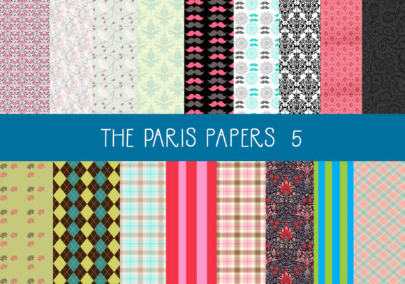 Print on Demand: The Paris Papers   Set 5 Graphic Patterns By CapeAirForce