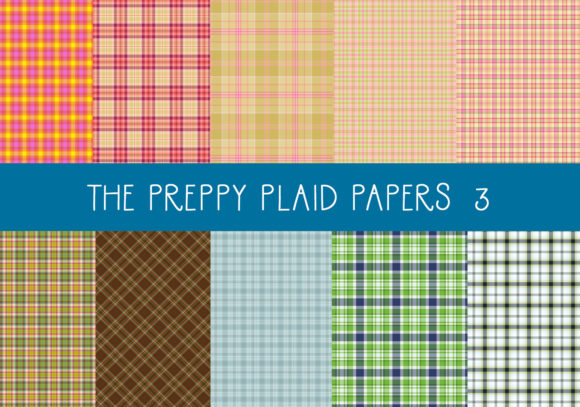 Download Free The Preppy Plaid Papers Set 3 Graphic By Capeairforce Creative for Cricut Explore, Silhouette and other cutting machines.