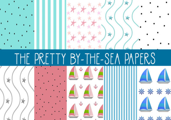 Print on Demand: The Pretty by-The_Sea Papers Graphic Patterns By CapeAirForce