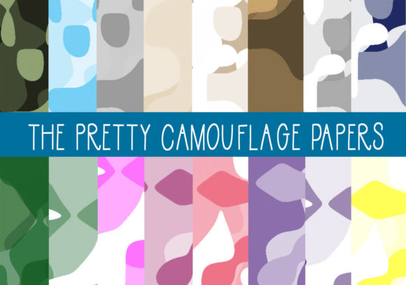 Print on Demand: The Pretty Camouflage Papers Graphic Patterns By CapeAirForce