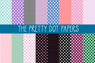 Download Free The Pretty Dot Papers Graphic By Capeairforce Creative Fabrica for Cricut Explore, Silhouette and other cutting machines.