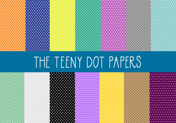 The Teeny Dot Papers Graphic By capeairforce