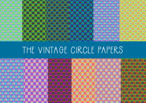 Print on Demand: The Vintage Circle Papers Graphic Patterns By CapeAirForce